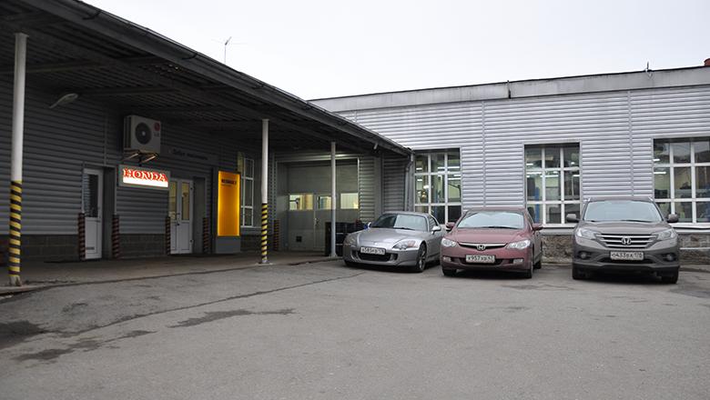 Сервис Хонда на Петроградской - парковка для клиентов